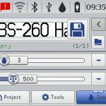 Interface de utilizador da EBS 260